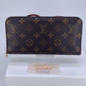 Louis Vuitton Wallet Red Insolite